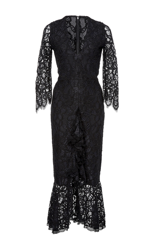 Medium alexis black nadege ruffled lace dress
