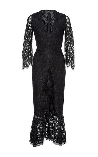 Medium alexis black nadege ruffled lace dress