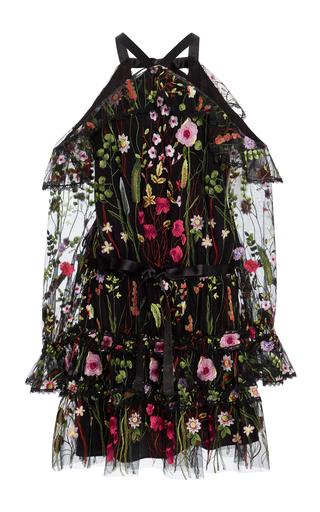 Medium alexis black adeline floral embroidered dress