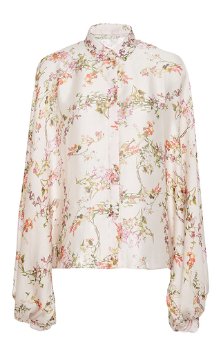Medium alexis white nicolette floral blouse