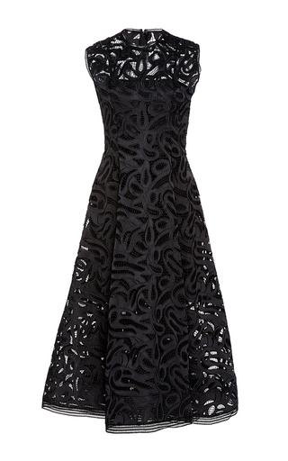 Medium alexis black keitn lace tea dress