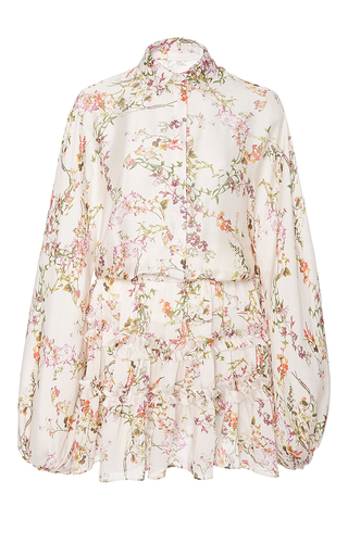 Medium alexis white loe floral blouson dress