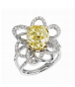 Medium lorenz baumer yellow eruption solitaire ring