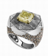Medium lorenz baumer yellow meteorite ring