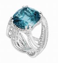 Medium lorenz baumer blue oasis ring