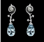 Vegetale Aquamarine Earrings by LORENZ BAUMER for Preorder on Moda Operandi