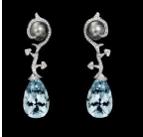 Medium lorenz baumer blue vegetale aquamarine earrings