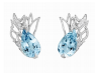 Medium lorenz baumer blue ailes d anges earrings
