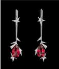 Medium lorenz baumer red allumettes earrings