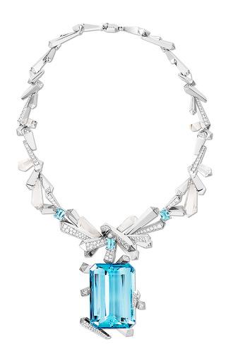 Medium lorenz baumer blue glacier necklace