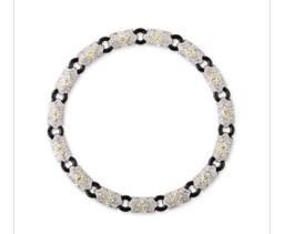 Medium fabio salini black necklace etoile with yellow diamonds white diamonds and onyx