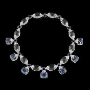 Necklace Crystal Sapphires, Diamond And Rock Crystal by FABIO SALINI for Preorder on Moda Operandi