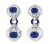 Medium fabio salini blue earrings crystal with sapphires diamonds and rock crystal