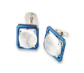 Medium fabio salini blue cufflinks with titanium and moonstones