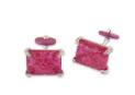 Medium fabio salini red cufflinks with gold titanium engraved rubies and diamonds