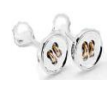 Medium fabio salini silver cufflinks in silver