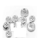 Medium fabio salini silver set bottoni in silver