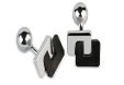 Cufflinks With Carbon Fiber And Silver by FABIO SALINI for Preorder on Moda Operandi