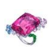 Medium anna hu pink butterfly garden collection butterfly garden ring in rubellite