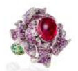 Medium anna hu pink fantasy garden collection lady peony ring in tourmaline