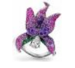 Medium anna hu purple fantasy garden collection orchid ring