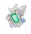 Medium anna hu green athena s laurel collection athena s laurel ring in green tourmaline