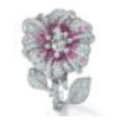 Duchess Hibiscus Collection  Duchess Hibiscus Ring In Pink Sapphire by ANNA HU HAUTE JOAILLERIE for Preorder on Moda Operandi