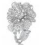 Medium anna hu silver duchess hibiscus collection duchess hibiscusring in diamond