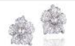 Medium anna hu silver duchess hibiscus collection duchess hibiscus earrings in diamond 2