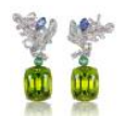 Athena's Laurel Collection  Athena's Laurel Earrings In Peridot by ANNA HU HAUTE JOAILLERIE for Preorder on Moda Operandi