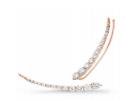 14 K Rose Gold Small Luna Ear Cuff White Diam by JADE TRAU for Preorder on Moda Operandi