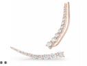 18 K Rose Gold Large Luna Ear Cuff by JADE TRAU for Preorder on Moda Operandi