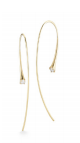 Medium jade trau gold 14k yellow gold ara hoops