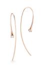 14 K Rose Gold Ara Hoops by JADE TRAU for Preorder on Moda Operandi