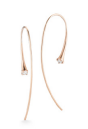Medium jade trau rose gold 14k rose gold ara hoops