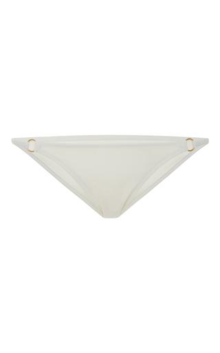 Medium solid striped white the tilda ring triangle bikini bottom