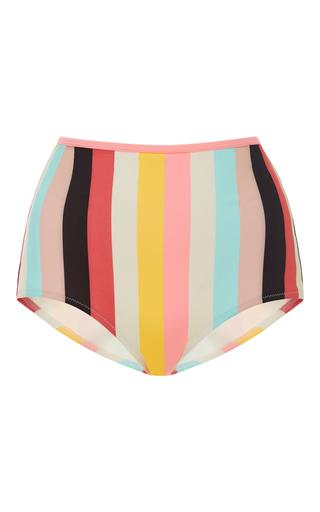 Medium solid striped stripe brigitte striped high rise bikini bottoms