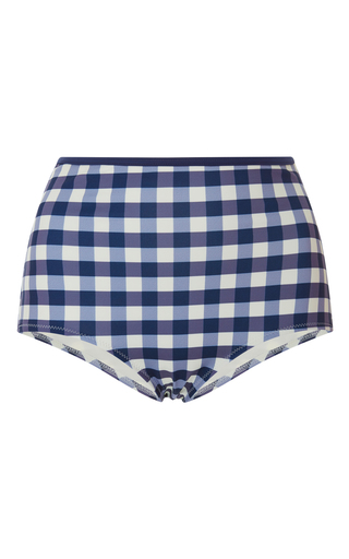 Medium solid striped plaid gingham bikini bottoms