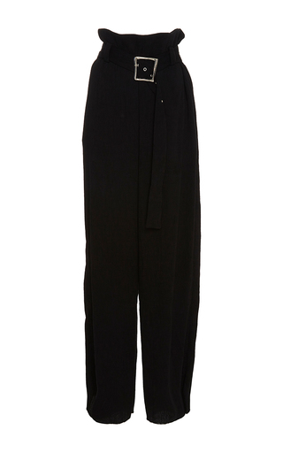Pleated Belted Trousers by REJINA PYO for Preorder on Moda Operandi