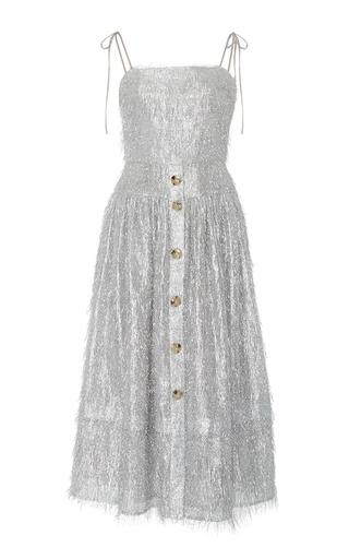 Medium rejina pyo silver the issy metallic fringe dress