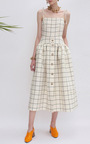 The Issy Check Dress by REJINA PYO for Preorder on Moda Operandi