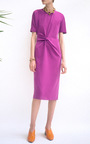 The Lois Knot Draped Dress by REJINA PYO for Preorder on Moda Operandi