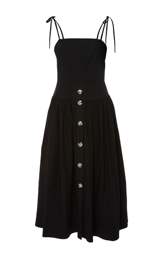 The Issy Front Button Strap Dress by REJINA PYO for Preorder on Moda Operandi