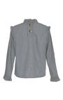 The Noelle Ruffle Collar Blouse by REJINA PYO for Preorder on Moda Operandi