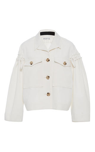 Medium rejina pyo white the daphne sleeve detail denim jacket