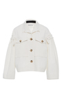 The Daphne Sleeve Detail Denim Jacket by REJINA PYO for Preorder on Moda Operandi