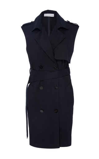 Sleeveless Belted Pike Dress by NELLIE PARTOW for Preorder on Moda Operandi