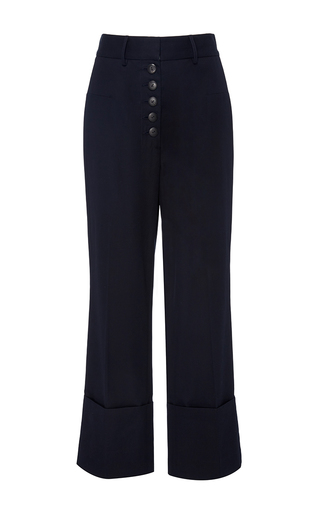 High Waisted Ray Trousers by NELLIE PARTOW for Preorder on Moda Operandi
