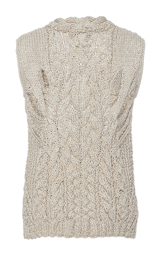 Caden Hand Knit Vest by NELLIE PARTOW for Preorder on Moda Operandi