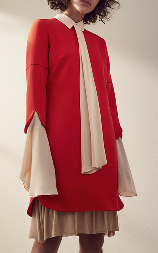 Long Sleeve Cross Dress by NELLIE PARTOW for Preorder on Moda Operandi